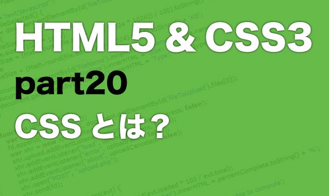 20 CSSとは?