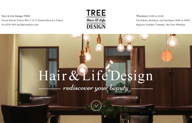 銀座の美容室 TREE(ツリー) | hair&life design TREE