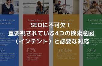 SEOに不可欠!重要視されている4つの検索意図(インテント)と必要な対応